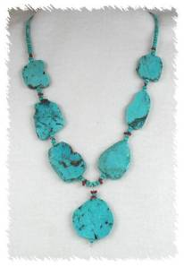 Santo Domingo Turquoise Slab Necklace