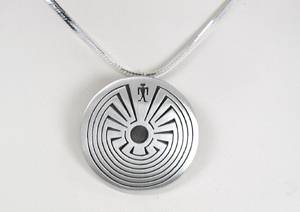 Man in the Maze Navajo pendant