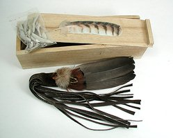 Oglala Lakota Smudge Box and Fan