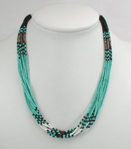 Santo Domingo 10 Strand Heishi Necklace