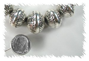Handmade Sterling Silver Graduated Navajo Beads by Marie Yazzie