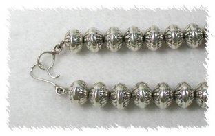 Handmade Navajo Sterling Silver Beads