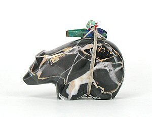 Picasso Marble Zuni Bear by Emery Eriacho