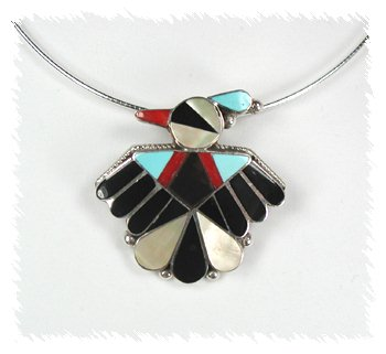 Thunderbird Pin Pendant by Zuni Rose Tekela