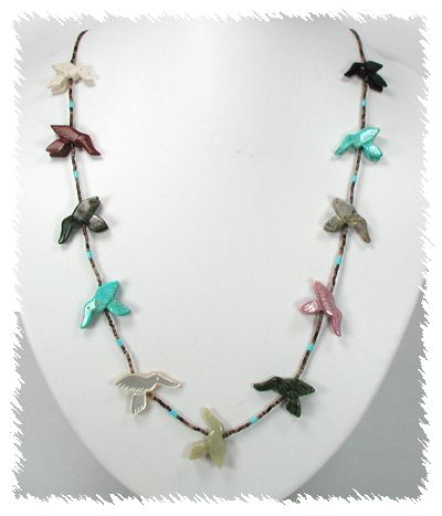 Hummingbird Fetish Necklace