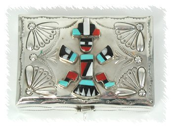 Knifewing Sterling Silver Inlay Box by Suzie James