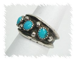 Native American Ring Medium Band