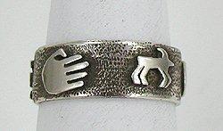Navajo Scott Skeets Petroglyph ring