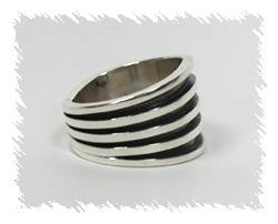 Native American ring wide band
