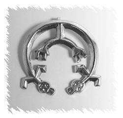 Navajo Yei Naja Sterling Silver Pendant