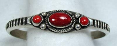 Coral Bracelet by Navajo artist Eugene Hale