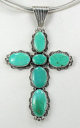 Large Zuni and Navajo Sterling Silver Crosses