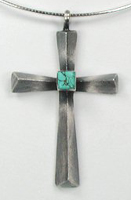 Medium Zuni and Navajo Sterling Silver Crosses