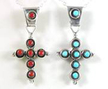Small Zuni and Navajo Sterling Silver Crosses