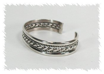 Navajo Sterling Silver Mesh Bracelet