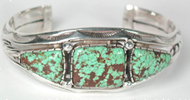 Navajo Sterling Silver and #8 Turquoise Bracelet