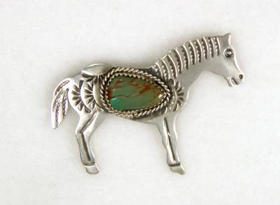Navajo Horse Pin by Albert Cleveland