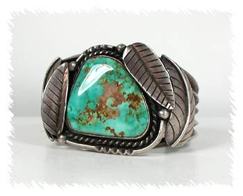Vintage Native American Pawn Turquoise Bracelet