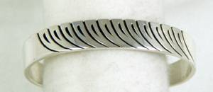 Sterling Silver Navajo Bracelet by Steve Yellowhorse