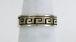 14K Gold and Sterling Silver Eternal Life Ring by Navajo Scott Skeets