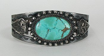 Sterling Silver and Turquoise Bargain Barn Bracelet