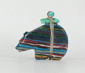 Rainbow Calsilica Medicine Bear by Zuni Emery Eriacho