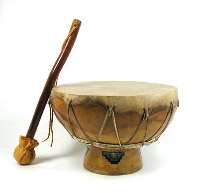 Apache Ceremonial Gourd Drum