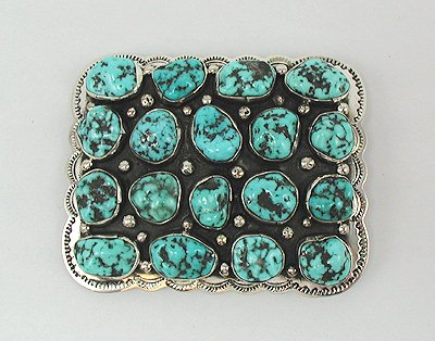 Sleeping Beauty Turquoise Belt Buckle by Navajo Dan Martinez