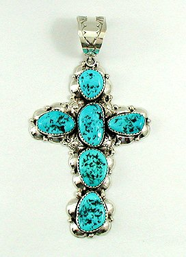 Sleeping Beauty Cross by Navajo Clem Nailwood