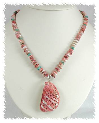 Santo Domingo Rouge Spiny Oyster Necklace