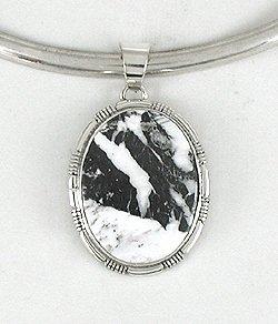 White Buffalo Stone Pendant by Navajo artist Geneva Spencer