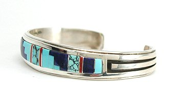Authentic Navajo Inlay Bracelet