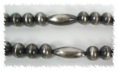 An example of contemporary Native American antiqued melon beads