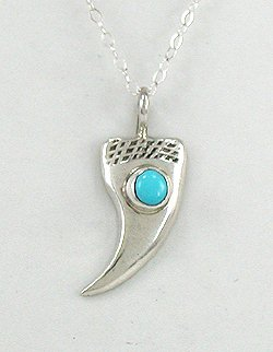 Sterling Silver Native American Bear Claw Pendant