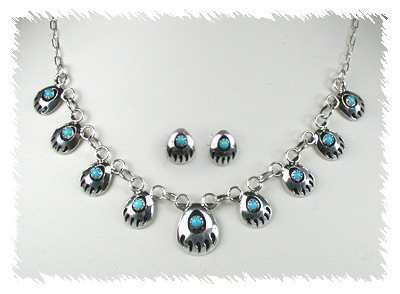 Native American Bear Paw Necklace