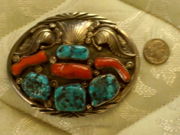 Vintage Navajo Belt Buckle