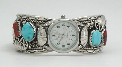 Native American Ladies Cuff Watch - Front View