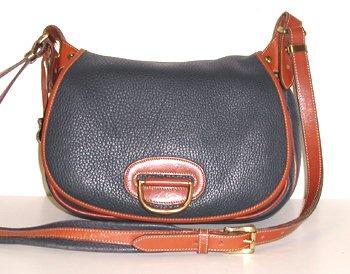 Authentic Dooney & Bourke Air Force Blue Horseshoe Handbag Made in USA