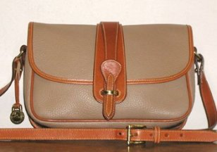 Authentic AWL Dooney & Bourke Wheat and British Tan Equestrian Handbag