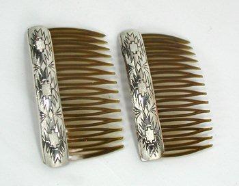 Navajo SilverDust Hair Combs