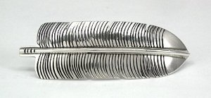 Navajo Sterling Silver Feather Barrette