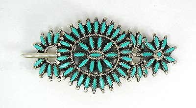 Zuni Needlepoint Stick Barrette