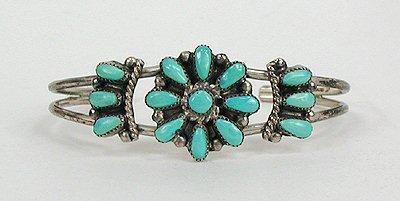 Vintage Zuni Turquoise Petit Point Bracelet