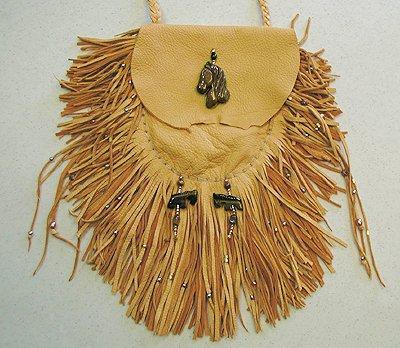 Apache Horse Spirit Medicine Bag by Cynthia Whitehawk