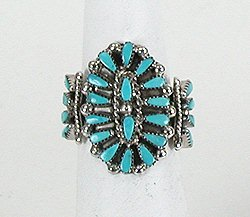 Petit Point Turquoise Ring by Zuni Milburn Dishta
