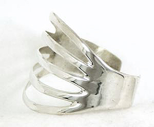 Sterling Silver Split Band Bracelet