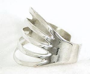 Sterling Silver Split Band Bracelet