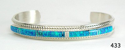Imitation Blue Opal Bracelet by Thomas Francisco, Navajo