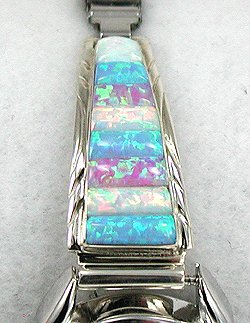 Multi-Color Opal Corn Row Watch by Thomas Francisco, Navajo
