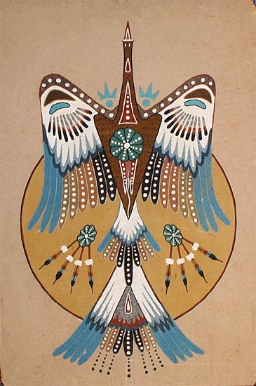 Native American Symbol Peyote Water Bird Colors Native